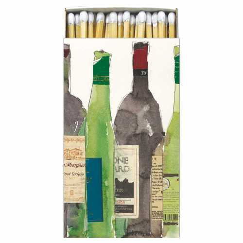 Wine Bottle Gift Boxed Matches - ModLoungePaperCompany