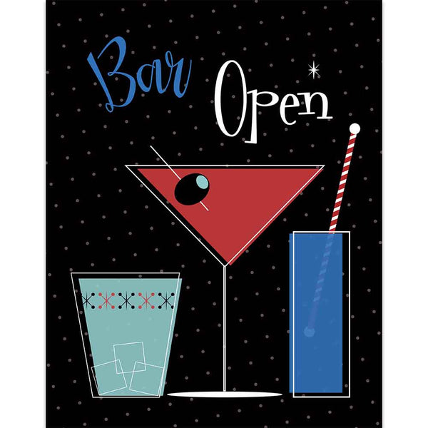 Patriotic Cocktails Bar Open Sign - ModLoungePaperCompany