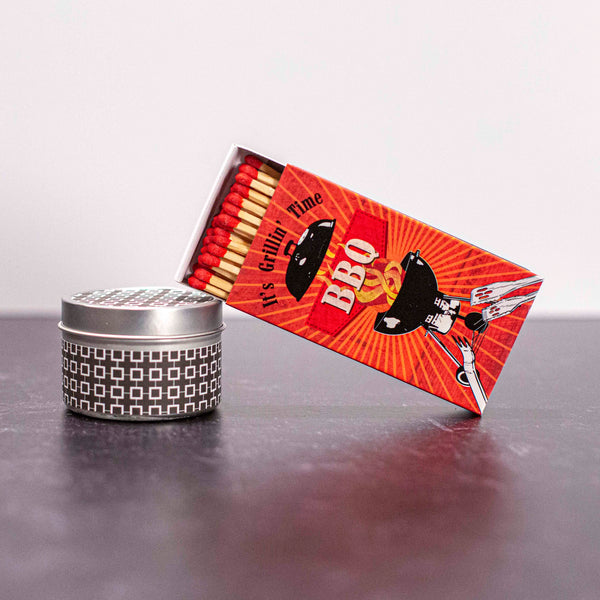 BBQ Grill Boxed Matches - ModLoungePaperCompany