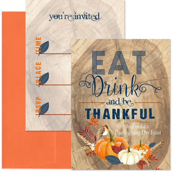 Thanksgiving invitation set