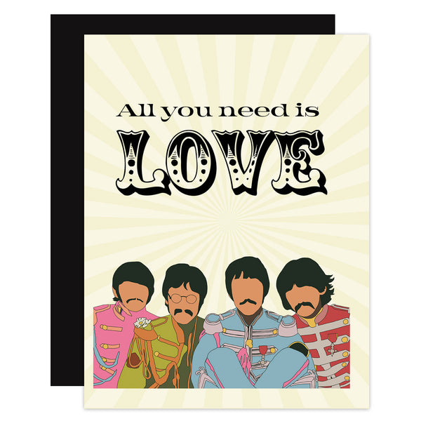 Beatles Love Greeting Card - ModLoungePaperCompany