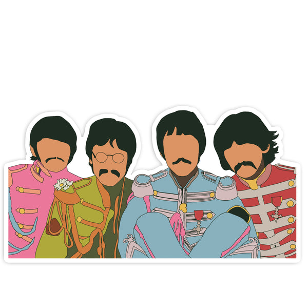 The Beatles Die Cut Sticker - ModLoungePaperCompany