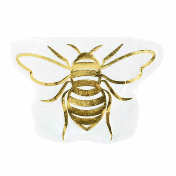 Die Cut Bee Cocktail Napkin - ModLoungePaperCompany