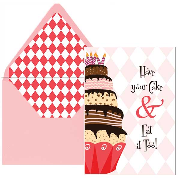 Big Cake Birthday Card - ModLoungePaperCompany