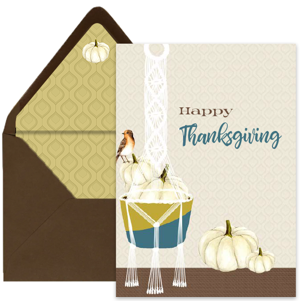 Boho Thanksgiving Greeting Card - ModLoungePaperCompany