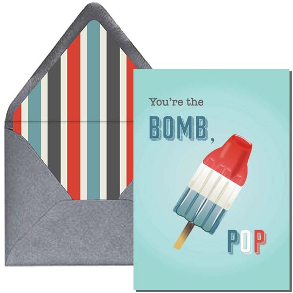 Retro Bomb Pop Greeting Card for Dad- ModLoungePaperCompany