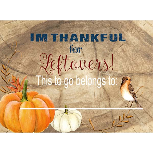 Be Thankful Leftover Stickers - ModLoungePaperCompany