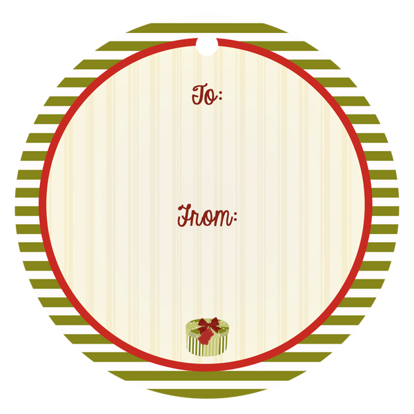 Vintage Holiday Bike Gift Tag - ModLoungePaperCompany