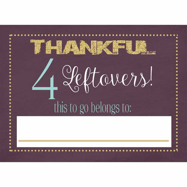 Plum Thanksgiving Leftover Stickers - ModLoungePaperCompany