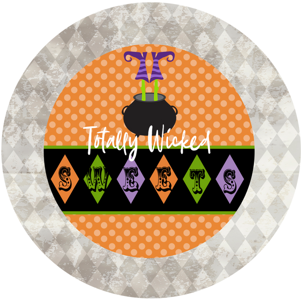 Witches Boot Wicked Treat Sticker - ModLoungePaperCompany