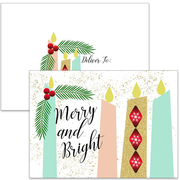 Candle Bright Greeting Card - Set of 10 - ModLoungePaperCompany
