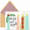 Candle Bright Holiday Greeting Card - ModLoungePaperCompany