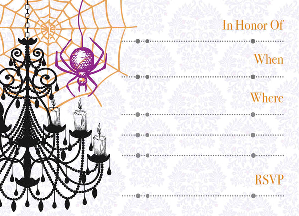 Celebrations & Cocktails Vintage Halloween Invitation - ModLoungePaperCompany