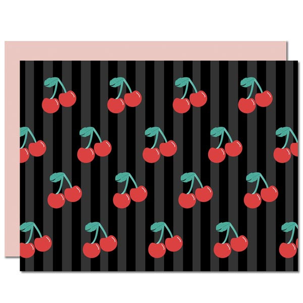 Cherry Notecard - ModLoungePaperCompany