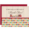 Vintage Train Thank You card - ModLoungePaperCompany