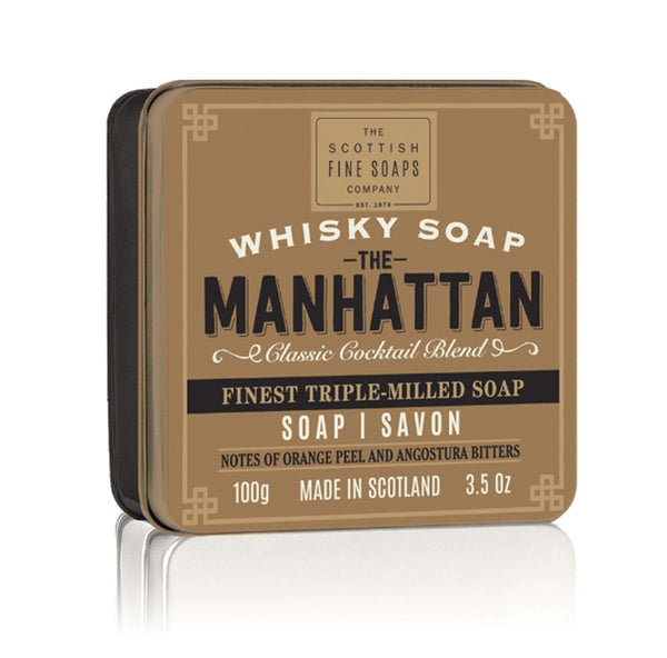 manhattan scent soap tin