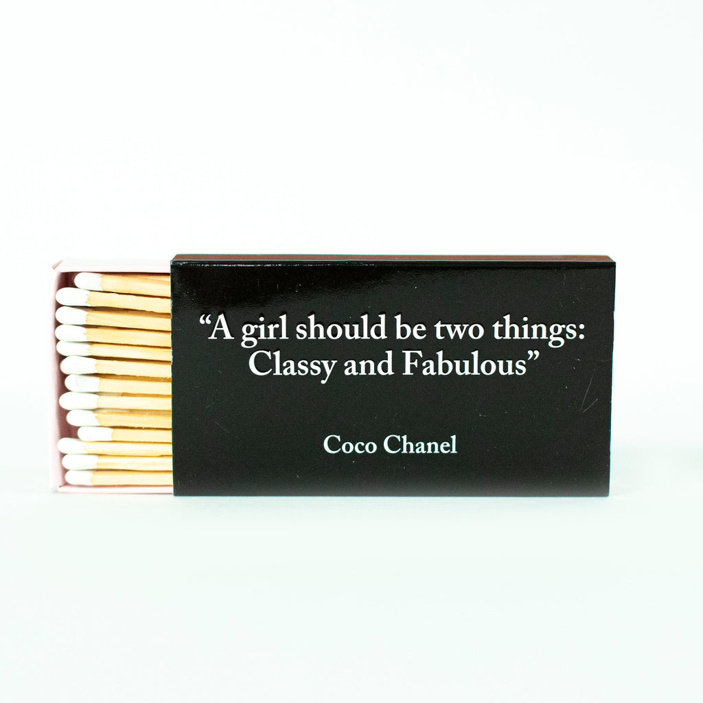 Coco Chanel Matchbox - Classy and Fabulous - ModLoungePaperCompany