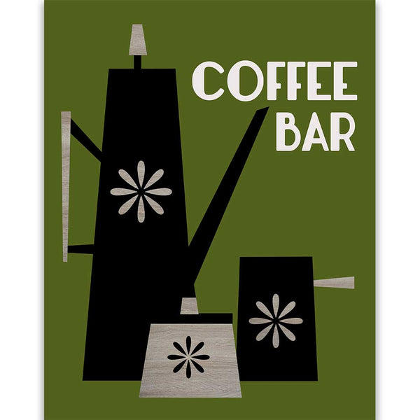 Coffee Bar Art Print - ModLoungePaperCompany
