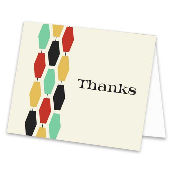 Geometric Thank You Card - ModLoungePaperCompany