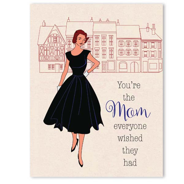 Vintage Fashion Mom Mothers Day Card - ModLoungePaperCompany