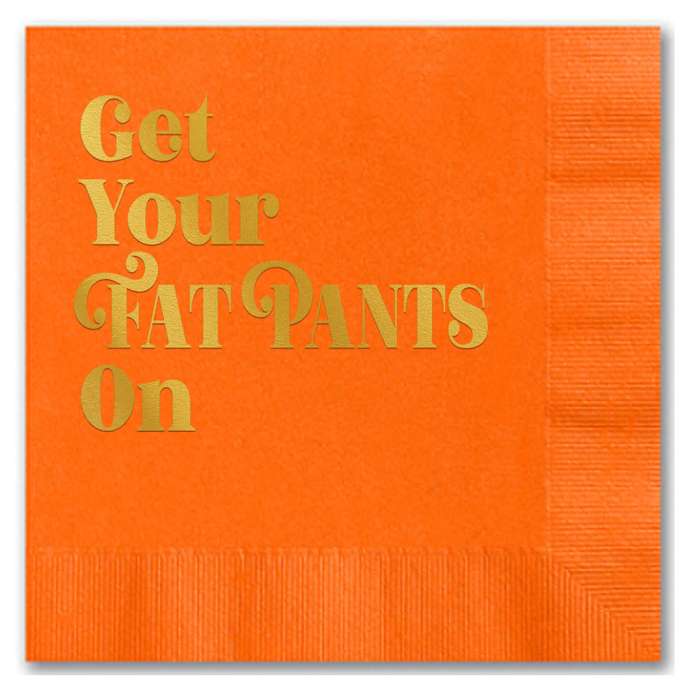 Fat Pants Beverage Napkin - ModLoungePaperCompany