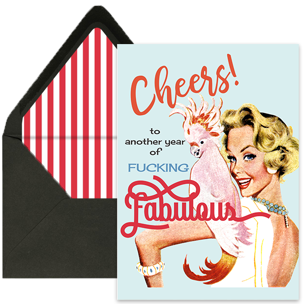 another year of fucking fabulous vintage birthday card