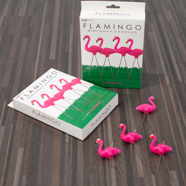 flamingo birthday candles