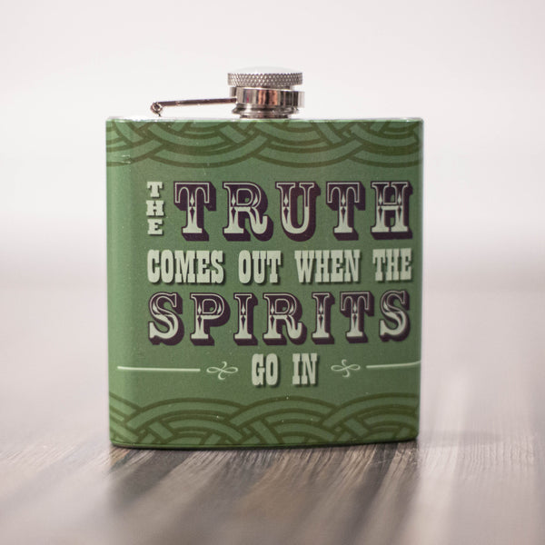 Truth Comes Out Flask - ModLoungePaperCompany