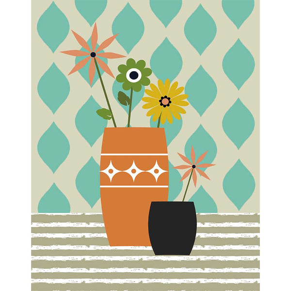 Flowers in Vase Art Print - ModLoungePaperCompany