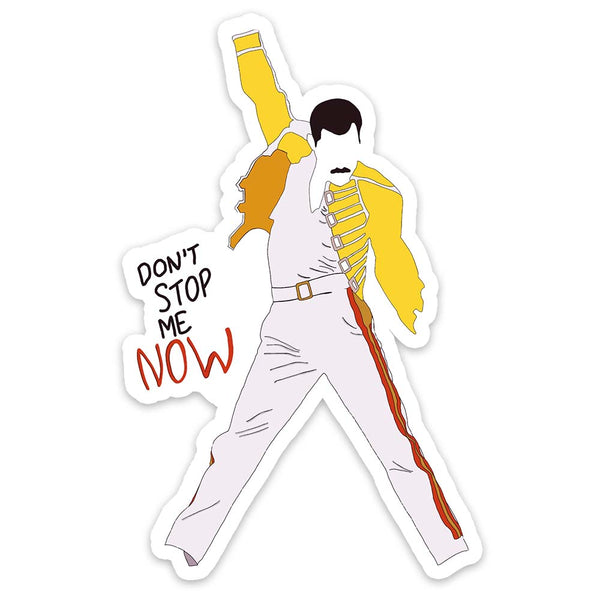 Freddie Don't Stop Me Now Sticker - ModLoungePaperCompany