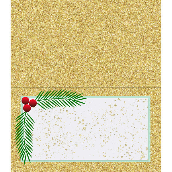 Glitter and Holly Place cards - ModLoungePaperCompany