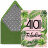 40 and Fabulous Birthday Card - ModLoungePaperCompany
