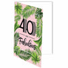 40 and Fabulous Palm Birthday Card - ModLoungePaperCompany