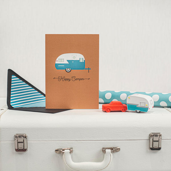 happy camper birthday card and gift