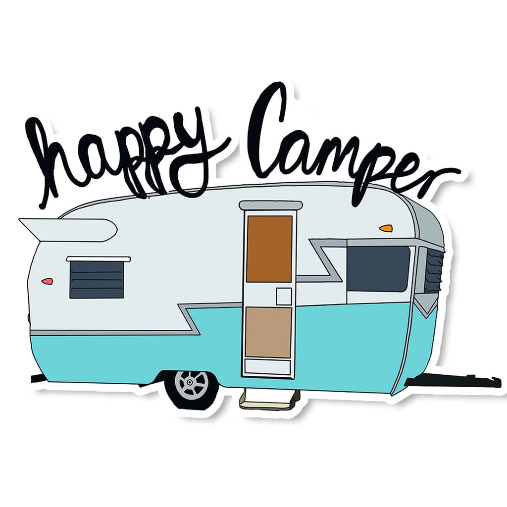Happy Camper Sticker - ModLoungePaperCompany