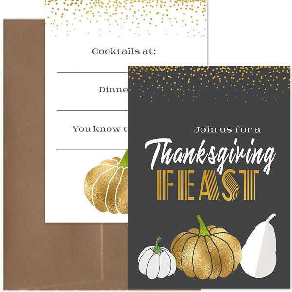 mid century modern thanksgiving invitation