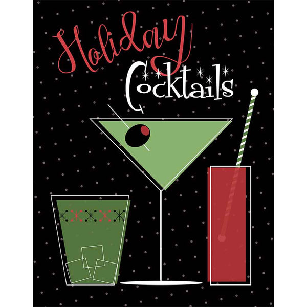 Holiday Cocktails Art Print - ModLoungePaperCompany