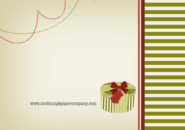 Holiday Bike Greeting Card - ModLoungePaperCompany