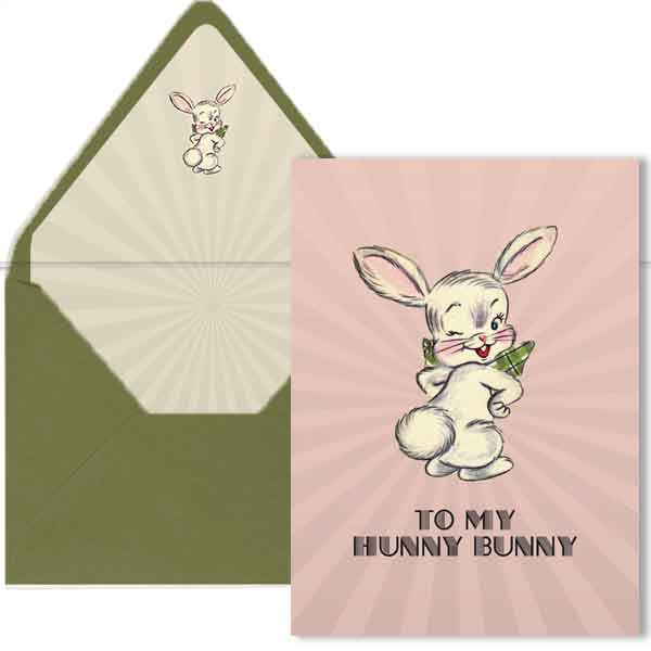 Hunny Bunny Easter Greeting Card A7 - ModLoungePaperCompany