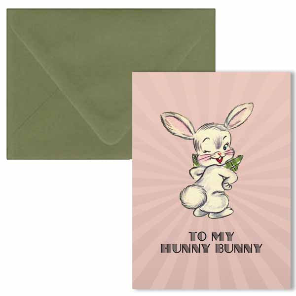 Hunny Bunny Easter Greeting Card - ModLoungePaperCompany