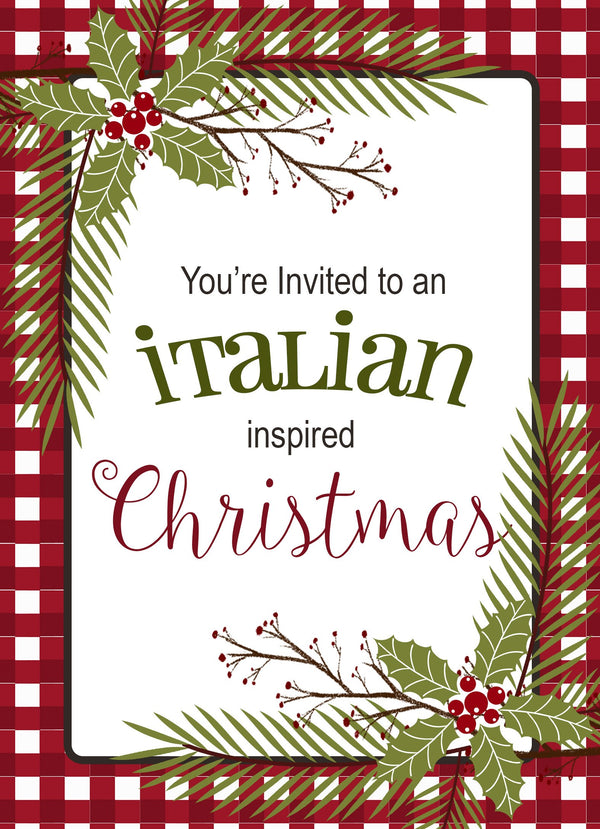 boxed christmas invitation