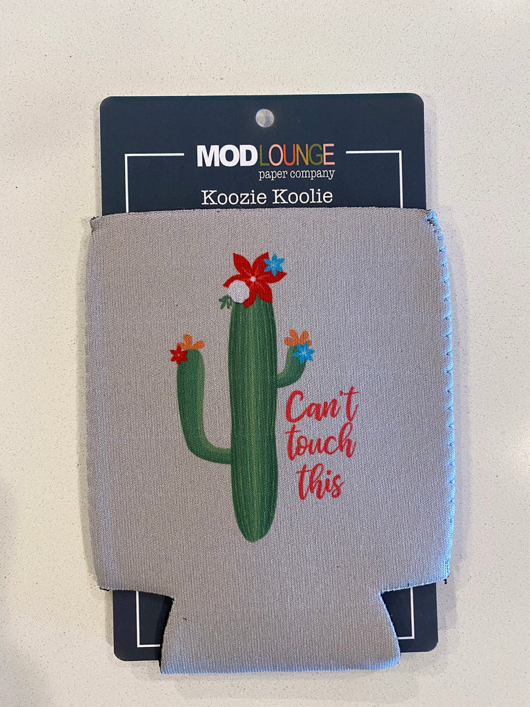 Cactus Cant Touch This Gray Koozie - ModLoungePaperCompany