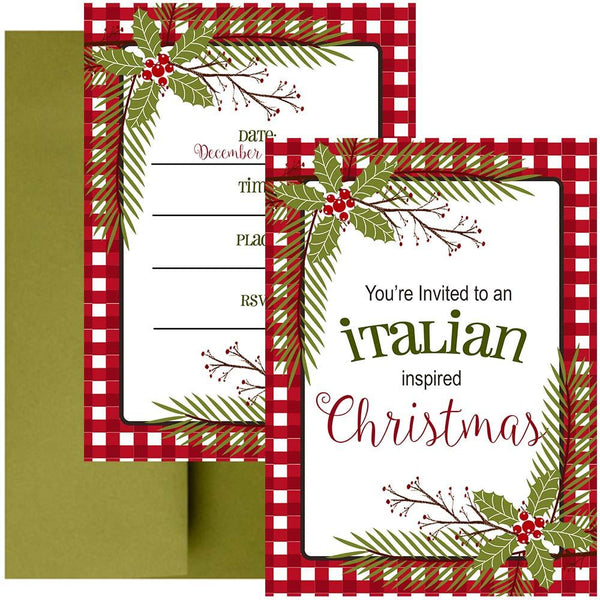 italian christmas invitation