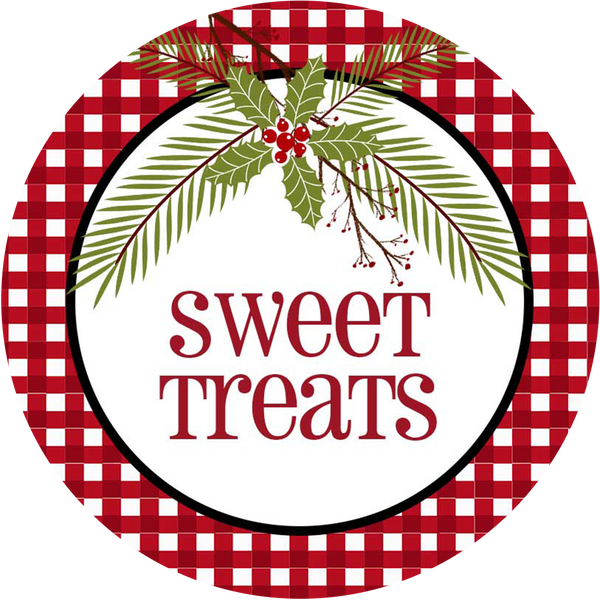 Sweet Treat Checkered Circle Sticker - ModLoungePaperCompany
