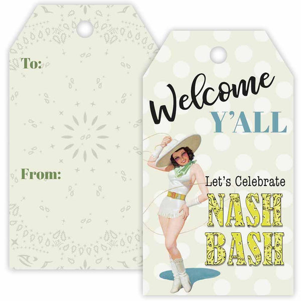 Nash Bash Welcome Gift Tag - ModLoungePaperCompany