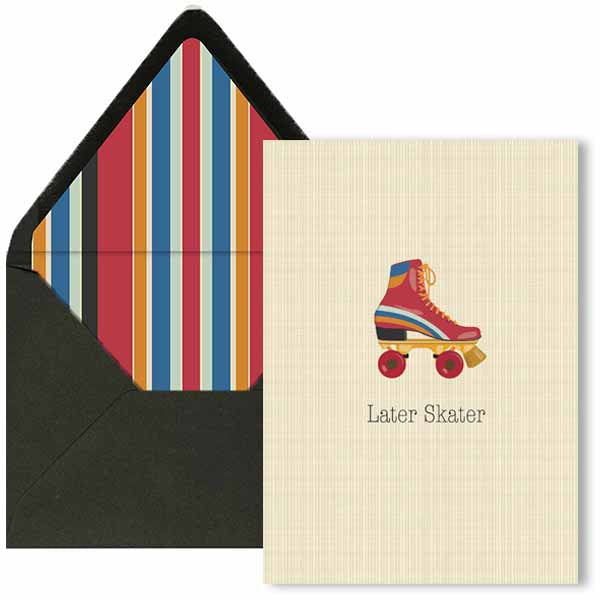 Later Skater Miss You Card - ModLoungePaperCompany