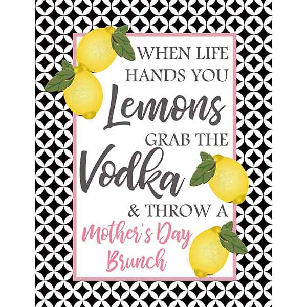 Life Hands You Lemons Bar Sign - ModLoungePaperCompany