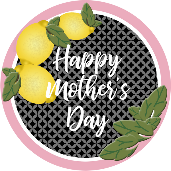 Happy Mother's Day Lemon Sticker - ModLoungePaperCompany