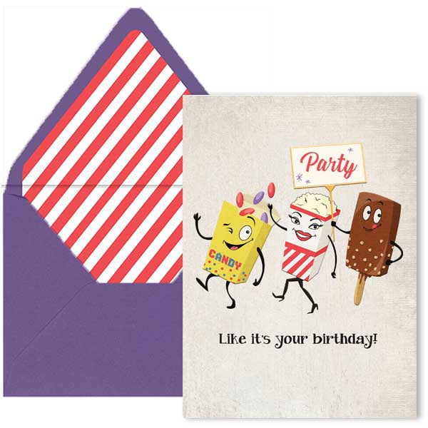 Lobby Refreshments Birthday Card - ModLoungePaperCompany