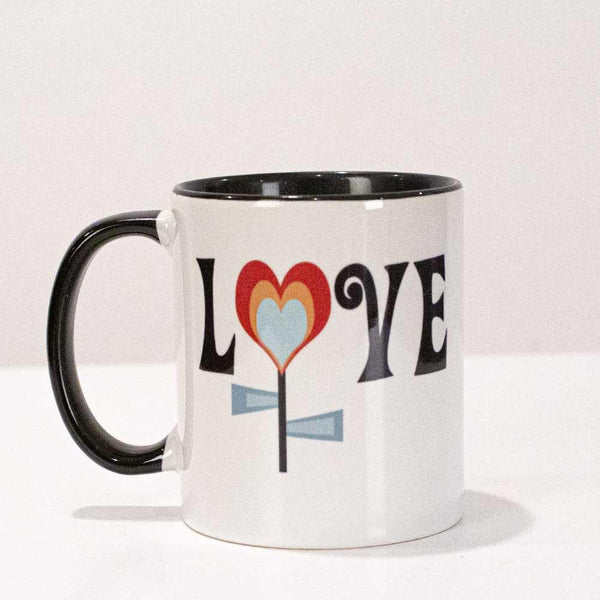 love flower valentine coffee mug